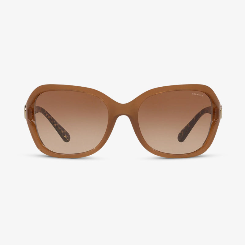 COACH Damen Sonnenbrille HC8238 554313 57 Beige Brown