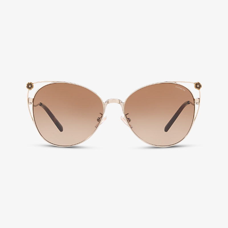 COACH Damen Sonnenbrille HC7096B 900513 58 Shiny Light Gold