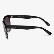 MICHAEL KORS Damen Sonnenbrille MK2060 328011 55 Black Transparent Grey Palma
