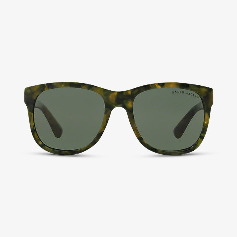 RALPH LAUREN Damen Sonnenbrille RL8141 54363H 56 Green Camouflage The New Ricky
