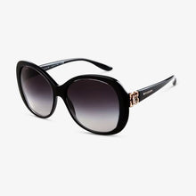 BVLGARI Damen Sonnenbrille BV8171BF 53838G 57 Top Crystal On Black Asian Fit