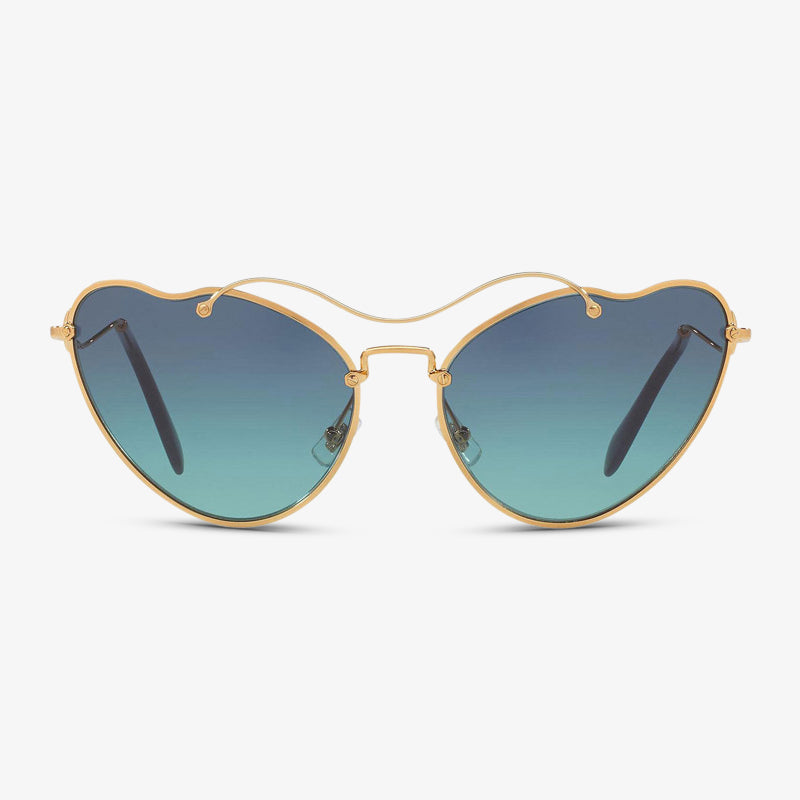MIU-MIU Damen Sonnenbrille MU 55RS 7OE5R2 65 Antique Gold