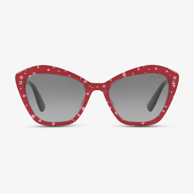 MIU-MIU Damen Sonnenbrille MU 05US 1403M1 55 BLACK TOP RED/WHITE STARS