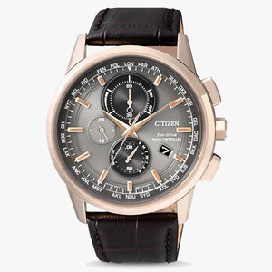 Citizen Funkgesteuerte Eco Drive AT8113-12H Herrenuhr mit Chronograph