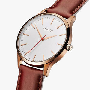 MVMT D-MT01-WBR 40 Series Rose Gold Natural Tan Herrenuhr