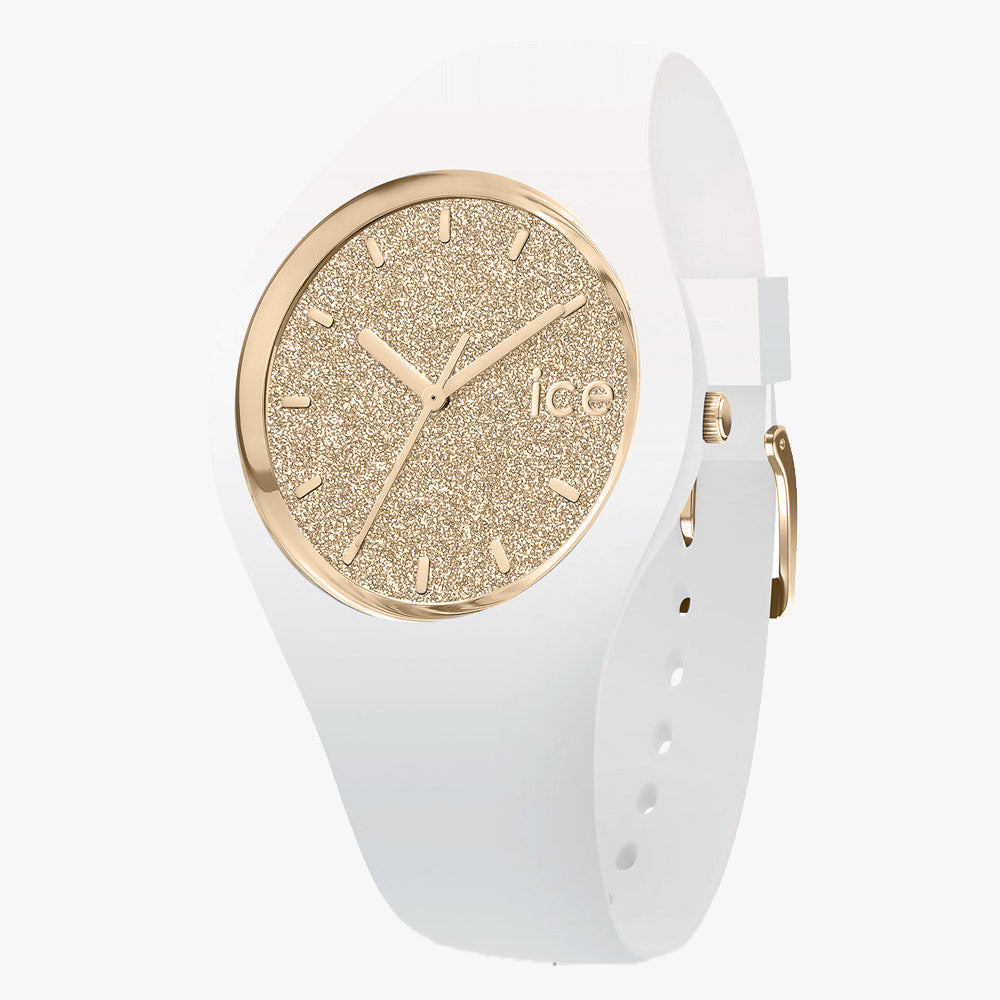 Ice-Watch Ice Glitter White Gold Small IW001345 34 mm Damenuhr