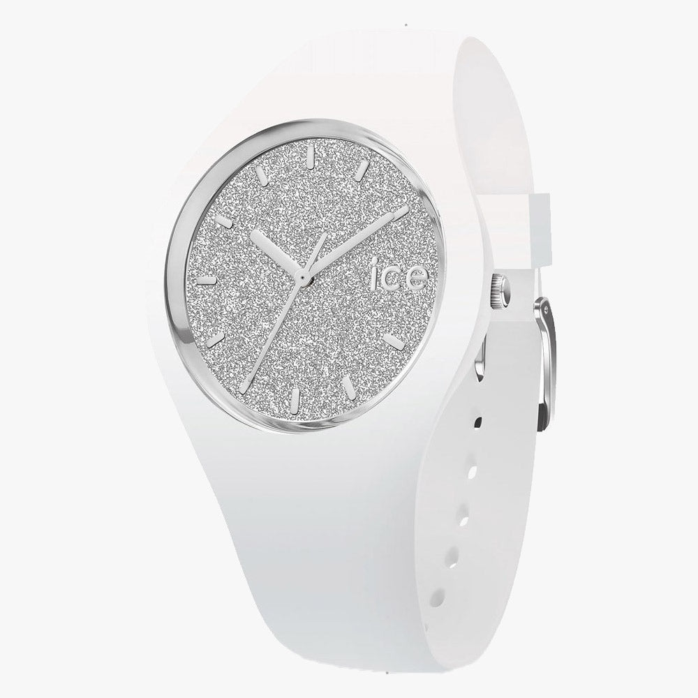 Ice-Watch Ice Glitter White Silver Medium IW001351 40 mm Damenuhr