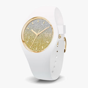 Ice-Watch ICE Lo white Uhr IW013432 Gold Medium 40 mm