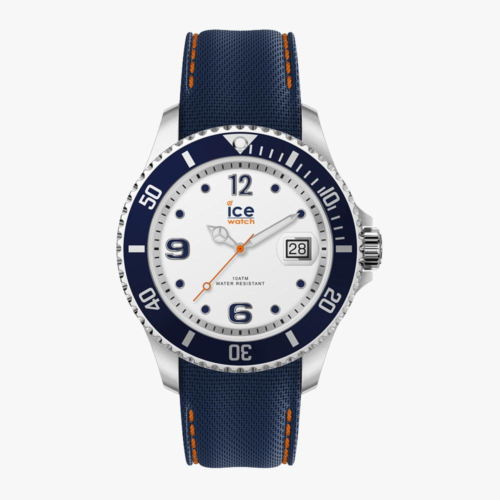 Ice-Watch ICE Steel - White Blue - Medium IW016771 Uhr 40 mm