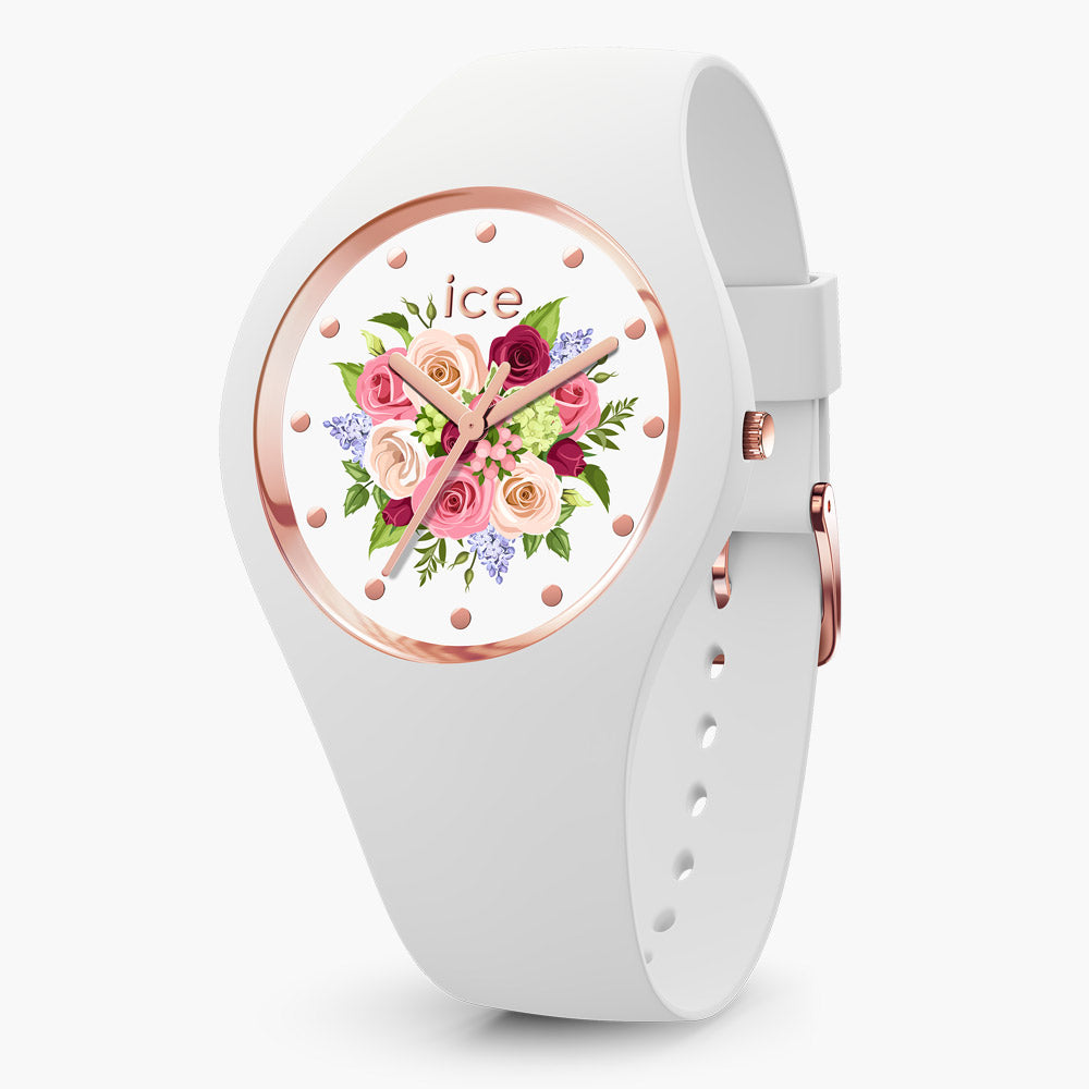 Ice-Watch Ice Flower White Small IW017575 34 mm Damenuhr
