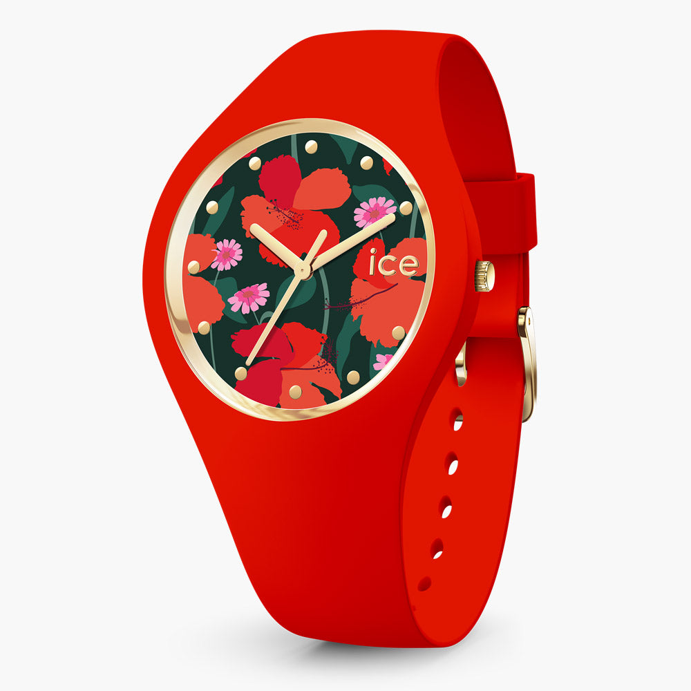 Ice-Watch Ice Flower Red Small IW017576 34 mm Damenuhr
