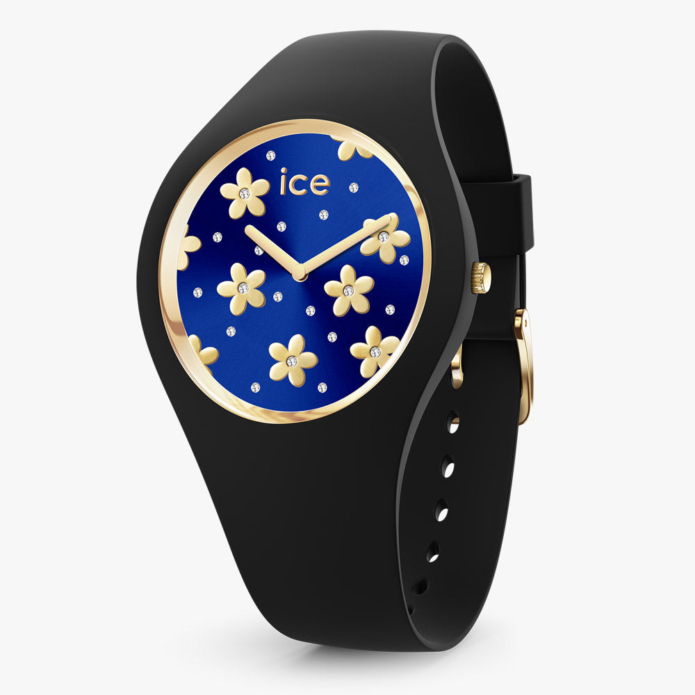 Ice-Watch Ice Flower Dark Blue Medium IW017579 40 mm Damenuhr