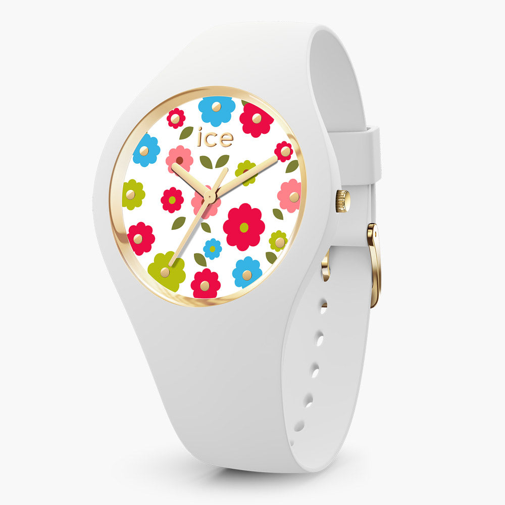 Ice-Watch Ice Flower White Small IW017582 34 mm Damenuhr