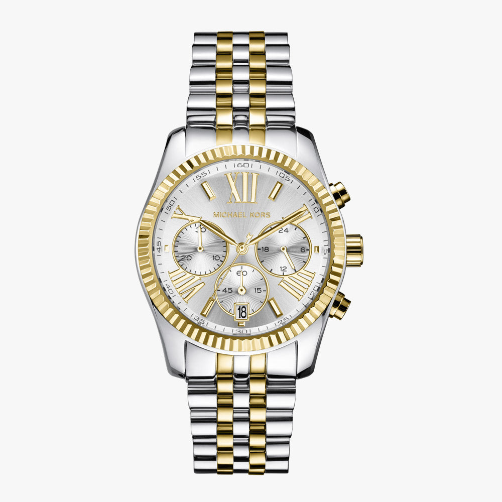 Michael Kors MK5955 Lexington Damenarmbanduhr mit Chronograph