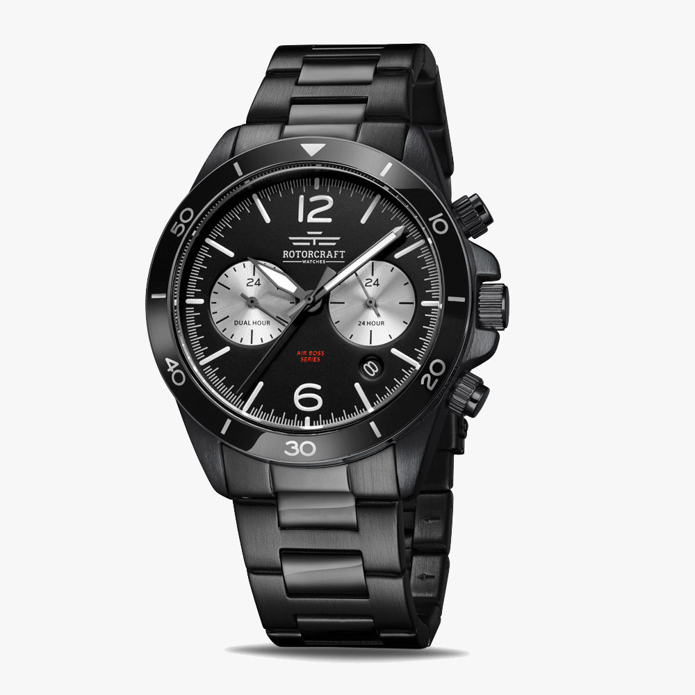 Rotorcraft RC1207 Air Boss Dual Time Herrenarmbanduhr