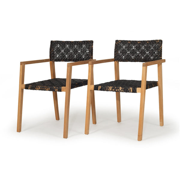 ANABELLE OUTDOOR CHAIRS - SET OF 2 (STACKABLE)