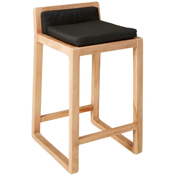 Bodoni Outdoor Bleached Teak Bar Stool
