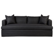 BIRKSHIRE 3 SEATER SLIP COVER SOFA - CHARCOAL LINEN