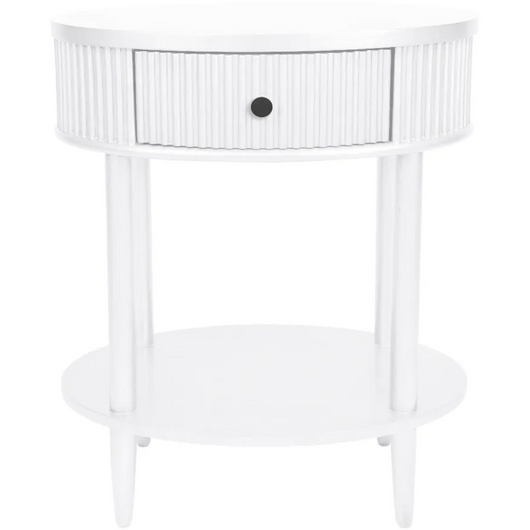 ARIELLE BEDSIDE TABLE - SMALL WHITE