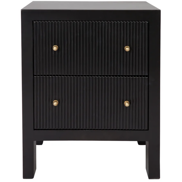 Ariana Bedside Table - Small Black