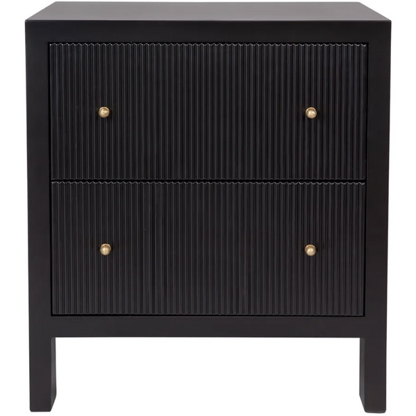 Ariana Bedside Table - Large Black
