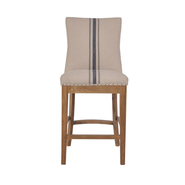 OAKWOOD COUNTER STOOL NATURAL WITH BLUE STRIPE