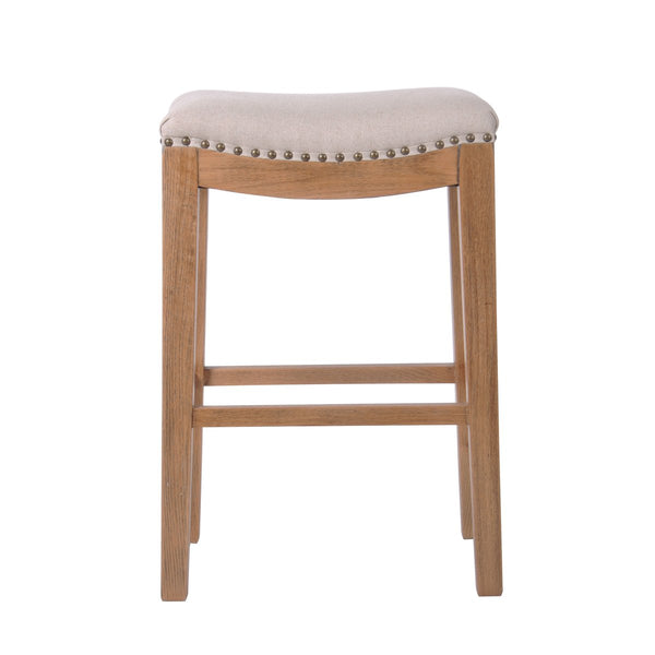 OAKWOOD COUNTER STOOL IN BEIGE