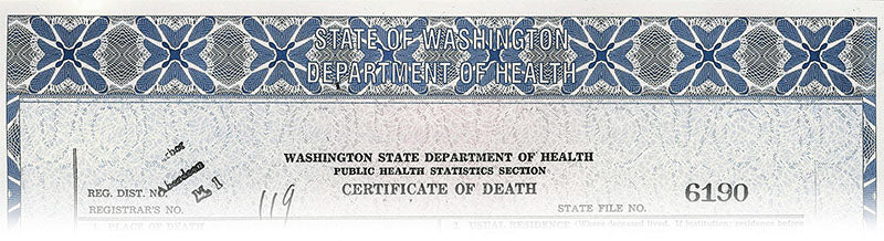 How to obtain death certificate in Washington