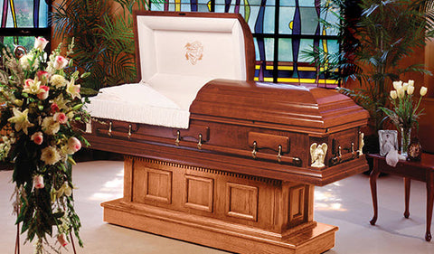 What makes people select wood caskets