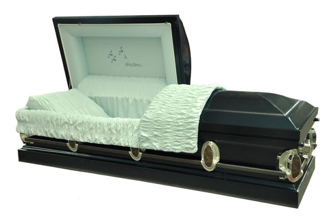 Going Home - Monarch Blue with Light Blue Interior - Metal Casket - Trusted Caskets