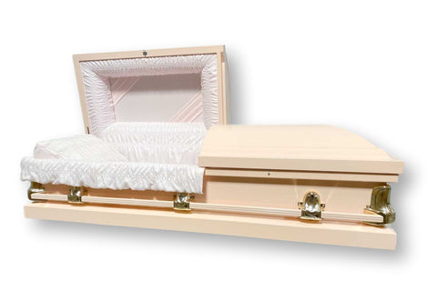 Stanford Pink - Pink Metal Casket with Light-Pink Interior - Trusted Caskets