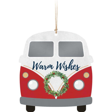Warm Wishes Van Ornament