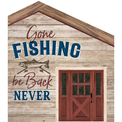 Gone Fishing Word Block