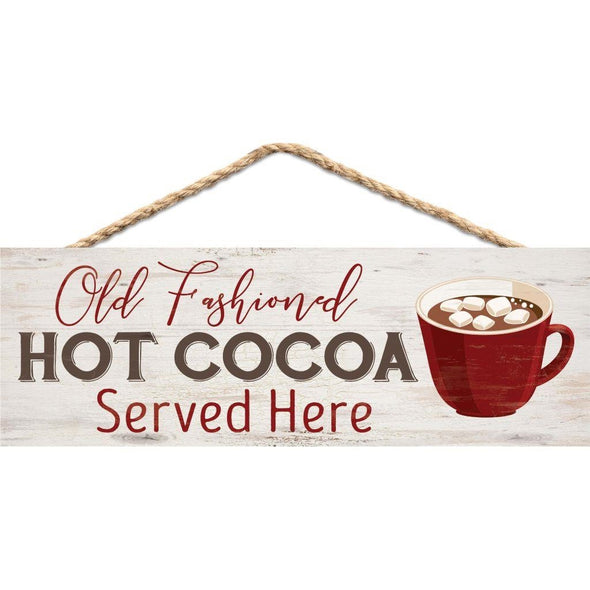 Old Fashioned Hot Cocoa Hanging Sign