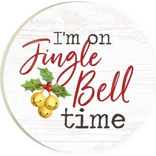 I'm On Jingle Bell Time Car Coaster