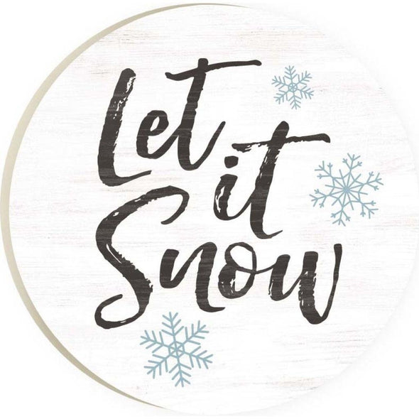 Let It Snow Car Coaster