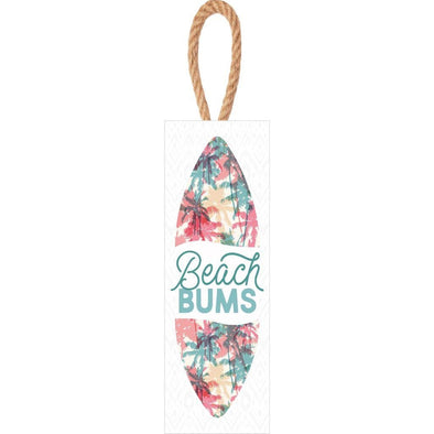 Beach Bums Surf Board Hanging Sign