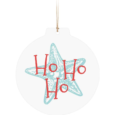 Ho Ho Ho Starfish Ornament