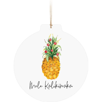 Mele Kalikimaka Pineapple Ornament