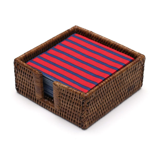 Rattan Cocktail Napkin Holder - Natural