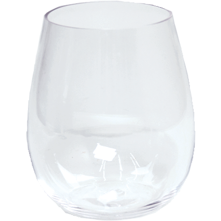 Acrylic Stemless Wine Glass - Clear - Opal and Olive