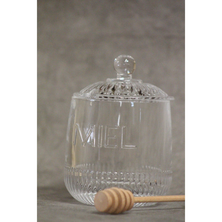 "Depression ""Miel"" Honey Jar - Opal and Olive"