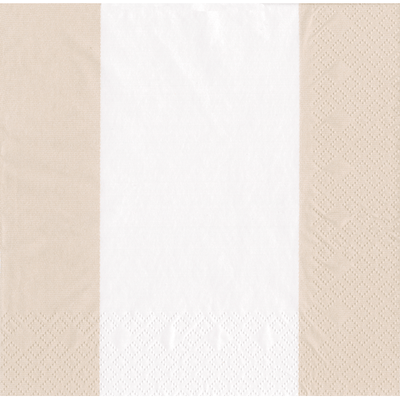 Cocktail Napkin - Bandol Stripe Natural - Opal and Olive