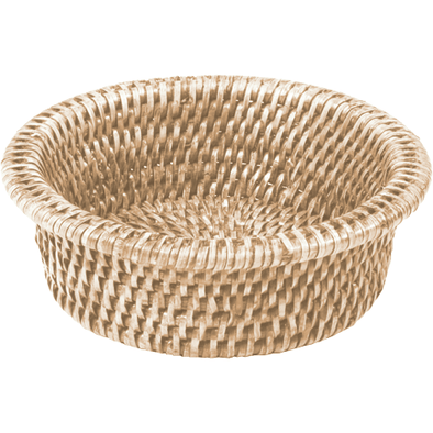 Wine Bottle Coaster - White Rattan