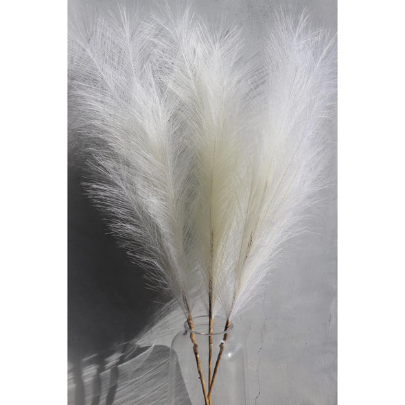 Large Off-White Faux Pampas Grass - Individual