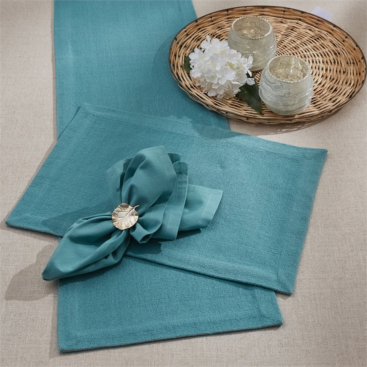 Elements Table Runner Teal 14x72 - Opal and Olive