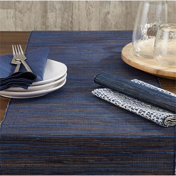 Hyacinth Placemat Midnight Blue - Opal and Olive