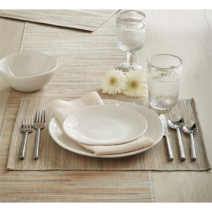 Hyacinth Placemat Natural - Opal and Olive