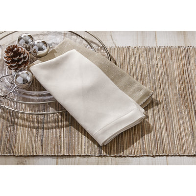 Hyacinth Luxe Placemat Silver - Opal and Olive