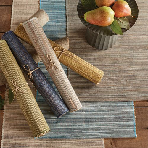 Hyacinth Table Runner - Slate - Opal and Olive